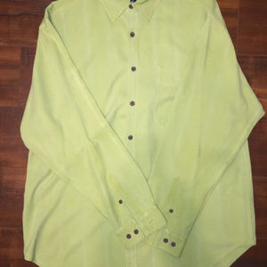 Green Tommy Bahama 100% Silk Button-down shirt